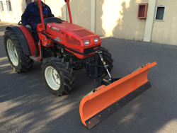 snowplough with plate for tractor lns 210 a