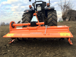 medium heavy rotavator tiller for tractor working width 150cm manuall sideshift mod dfm 150