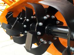 heavy rotavator tiller for tractors working width 150cm mod dfh 150