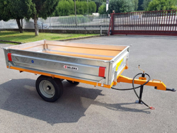 agricultural one way tipping trailer for tractor 1 5 ton rm 12
