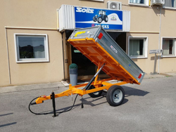 agricultural one way tipping trailer for tractor 1 5 ton rm 14