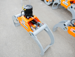 log grapple with fixed rotator for quick linkage dk 16 gr 55ff
