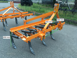 cultivator for tractor width 169cm 7 tynes for soil preparation and weeds disrupting mod de 165 7
