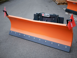 snow plow for up to 3 0 ton skid steer loaders ln 250 m