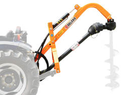 post hole digger for traktor with hydraulic system l 50h