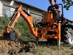 mini backhoe for universal compact tractors drs 1000t