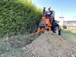 mini backhoe for universal compact tractors drs 1000