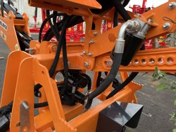 universal backhoe with bucket for agricultural tractors mod drs 2000