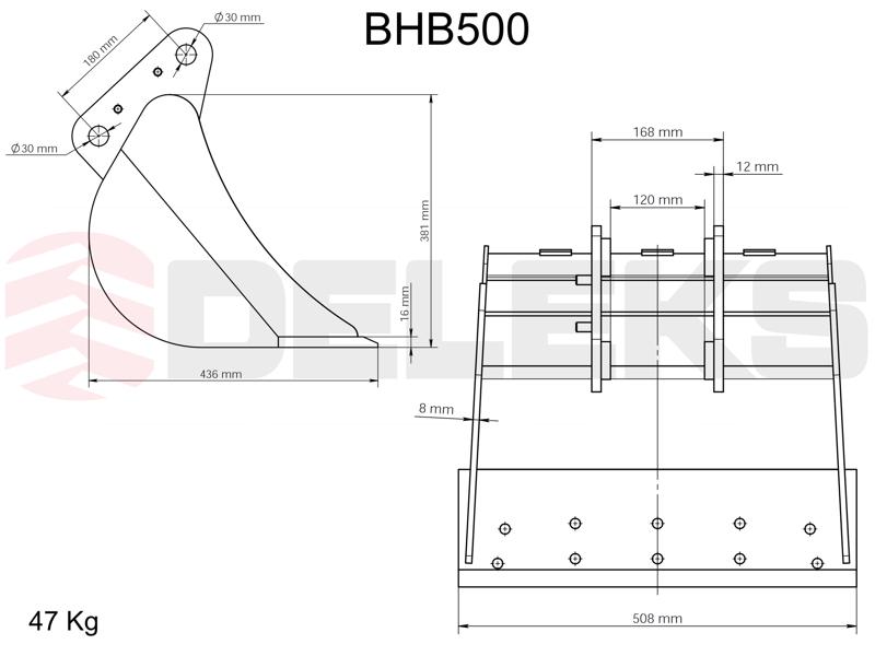 bucket-for-miniexcavator-bhb-500