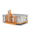 big transport box transporter for tractor bins with tipping bodies and 3 point linkage
