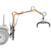 forestry cranes with hydraulic graple and 360 rotating rotor for handling wood logs timber crane for tractor