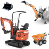 tracked mini excavators and tractor mounted backhoe deleks