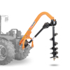 post hole digger for tractor with interchangeable tips augers
