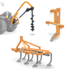 post hole diggers with augers rippers grubbers cultivators and potato diggers for tractors