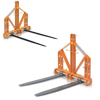 pallet forks for tractor pitchfork with tips for hay bales for mowing lifting and replacement of pallets or items